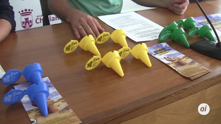 Hasta 5.000 conos-ceniceros para mantener limpias las playas