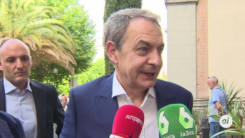 """Zapatero """"comparte la postura del PSOE"""" y espera que haya investidura"""