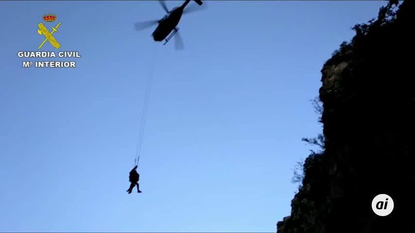 Guardia Civil rescata a un montañero que llevaba 4 días desaparecido
