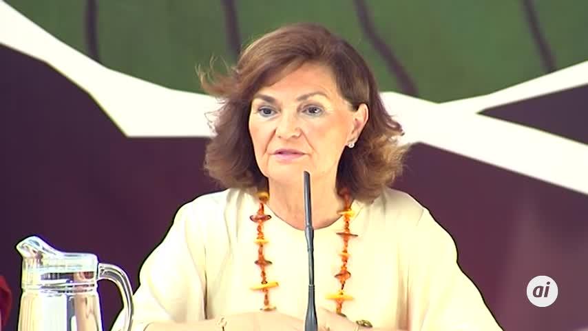 """Carmen Calvo: el feminismo """"no es de todas"""", sino del """"socialismo"""""""