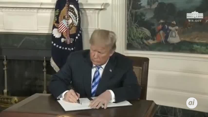 """Trump rompió el pacto con Irán por """"vandalismo diplomático"""""""