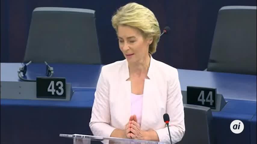 La Eurocámara confirma a Von der Leyen como presidenta de la CE