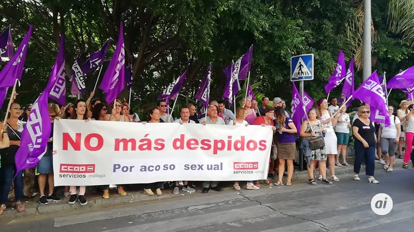 Protesta para la readmisión de una empleada que denunció acoso sexual
