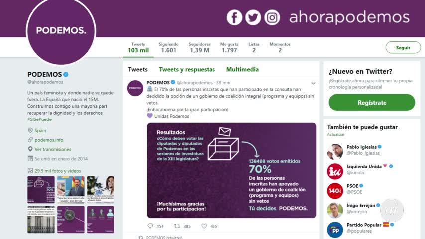 El 70% de las bases de Podemos quiere a Iglesias en el Gobierno