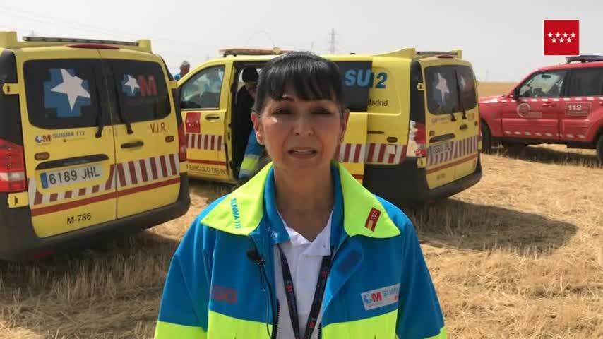Hallan el cadáver de una mujer de 77 años en un campo de Getafe