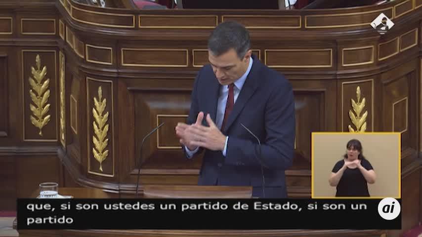 """Sánchez a Casado: """"Tengo una mala noticia, se tiene que abstener"""""""