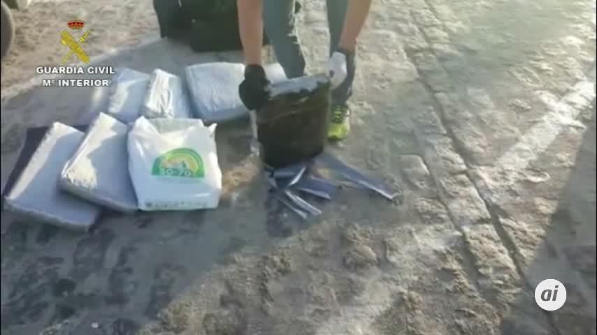 Tres investigados tras intervenir 159 kilos de polen de hachís