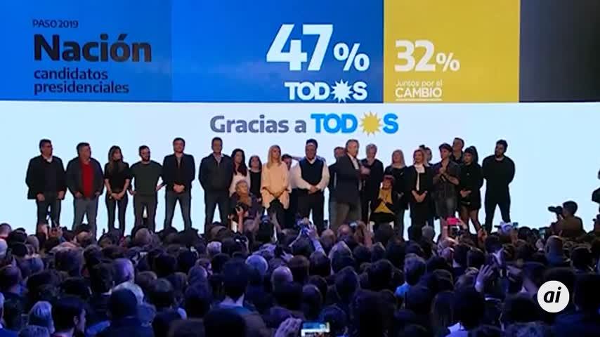Alberto Fernández se anota el triunfo en las primarias de Argentina