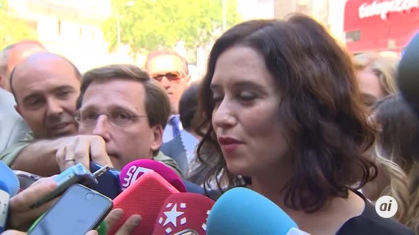 """Ayuso buscará el """"mejor equipo"""" para la Comunidad de Madrid"""