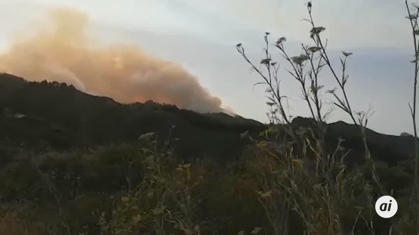 Medios aéreos se suman a la extinción del incendio de Gran Canaria