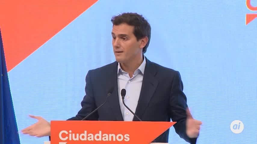 """Rivera cita al PP para proponer a Sánchez una """"solución de Estado"""""""
