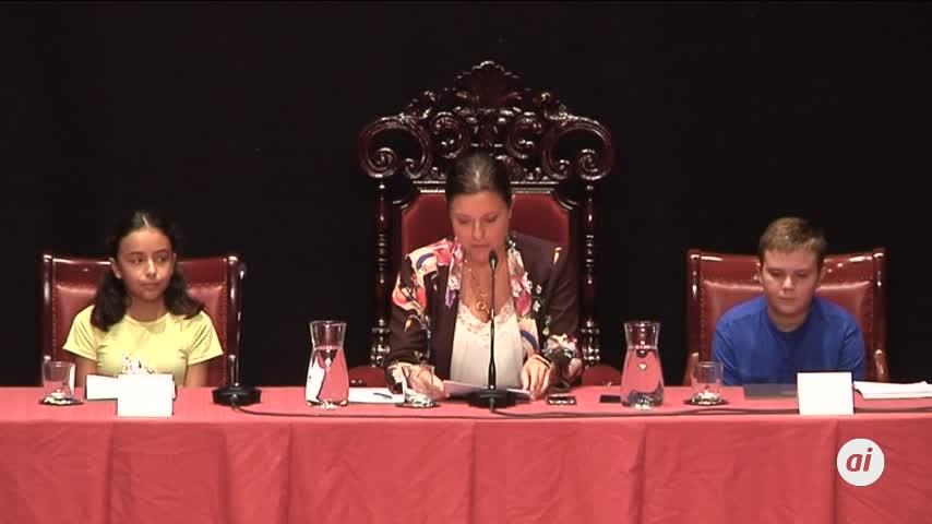 La sesión completa del Parlamento de niños y niñas de 2019 en video