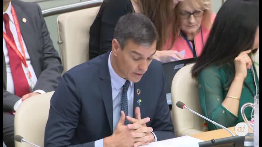 Sánchez defiende en la ONU los beneficios de la sanidad universal