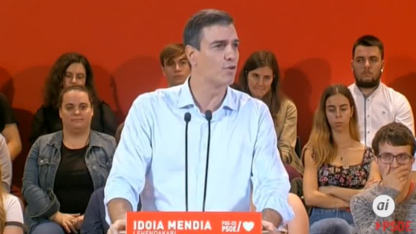 Sánchez promete culminar el Estatuto de Gernika la próxima legislatura