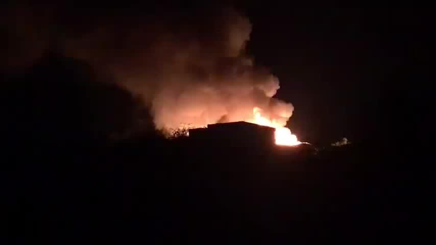 Nueve afectados en el incendio de un asentamiento de chabolas en Lepe