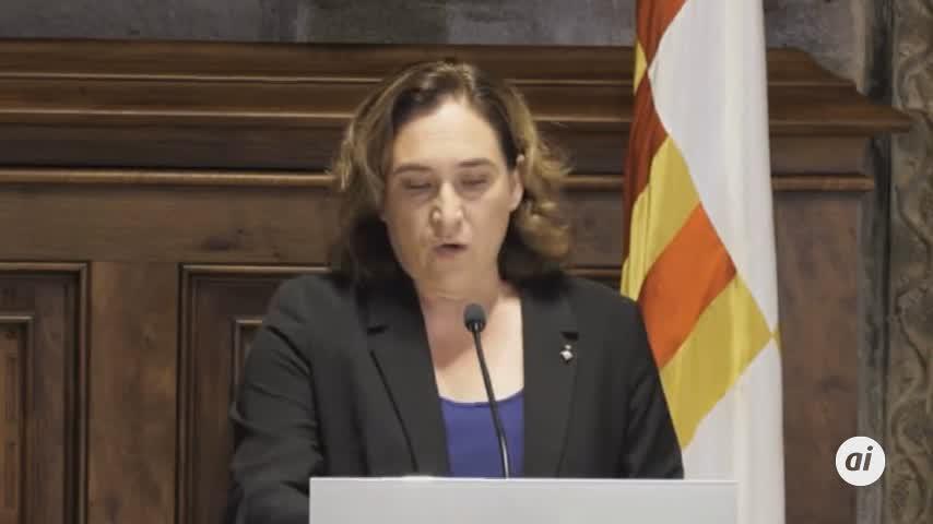 """Ada Colau critica la """"crueldad"""" de la sentencia del procés"""