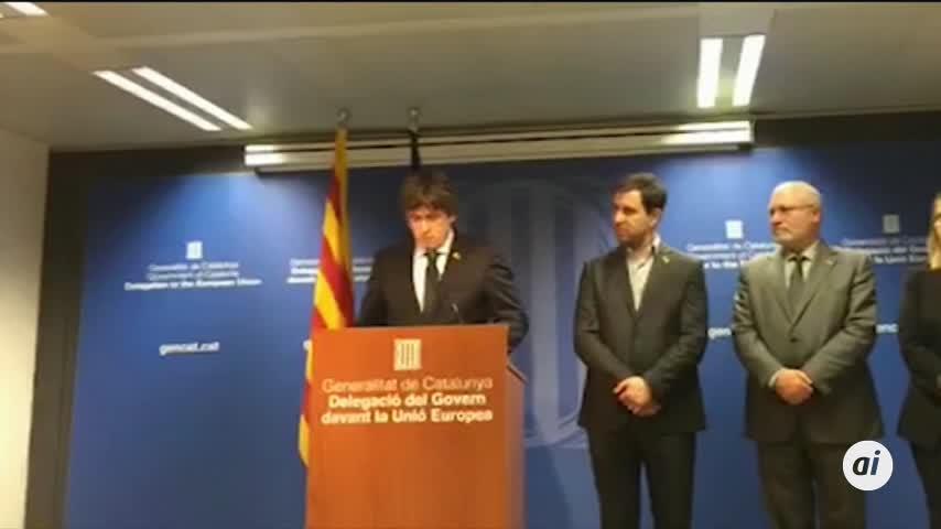 Puigdemont llama a la movilización en un mensaje desde Bruselas