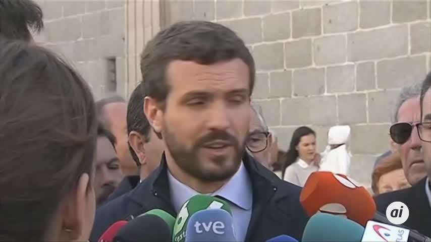 """Casado exige a Sánchez """"romper hoy"""" con ERC y JxCAT"""