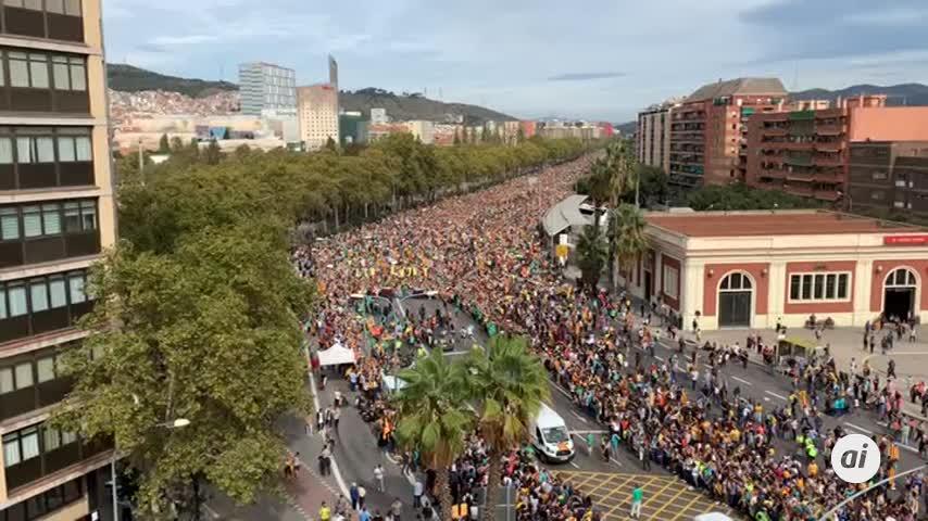 Las 'Marchas per la Libertad' de Berga y Vic llegan a Barcelona