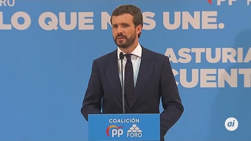 Casado exige a Sánchez actuar con urgencia en Cataluña