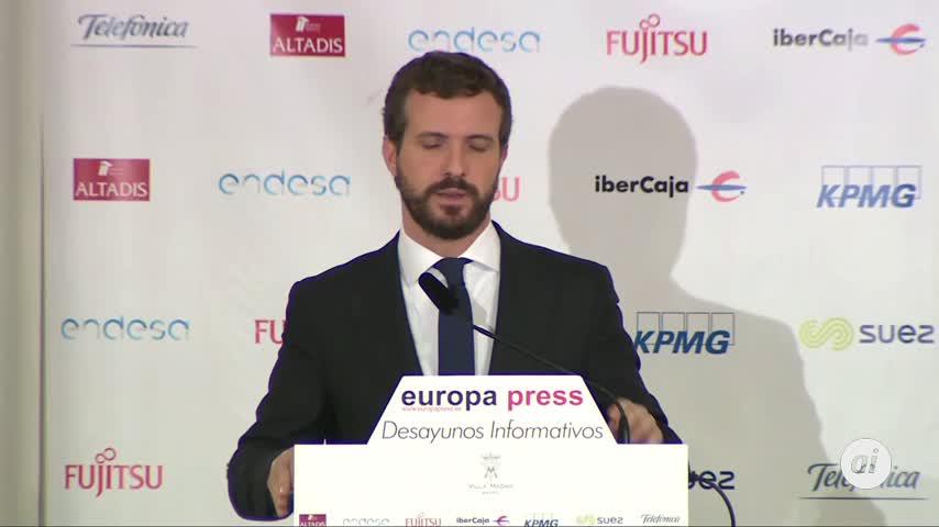 Casado dice que desde la DUI, Cataluña ha perdido 1.033 millones