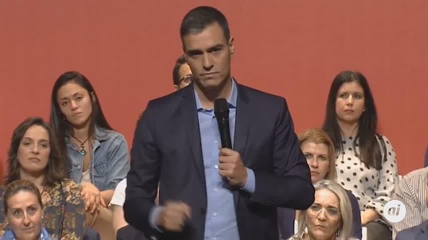 """Sánchez: """"No demos por hecho que vamos a ganar las elecciones"""""""