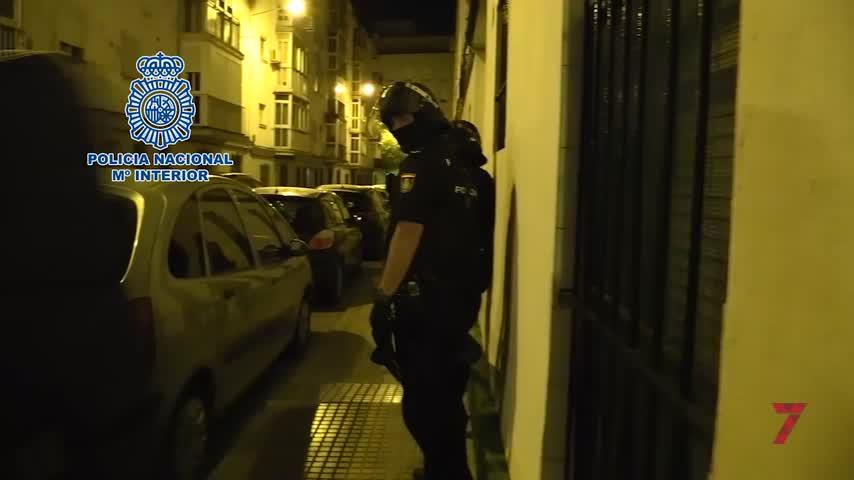 Cinco detenidos tras desmantelar un punto de venta de drogas en Cádiz