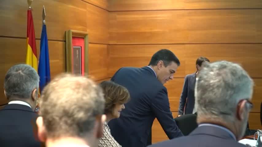 Sánchez preside la reunión del comité de coordinación sobre Cataluña