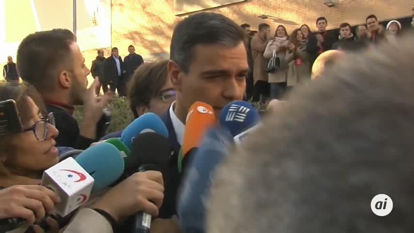 Sánchez espera una alta participación que legitime los resultados