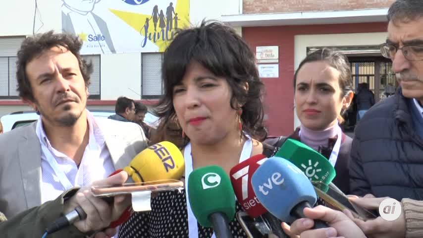 """Teresa Rodríguez vive la jornada con """"preocupación y esperanza"""""""