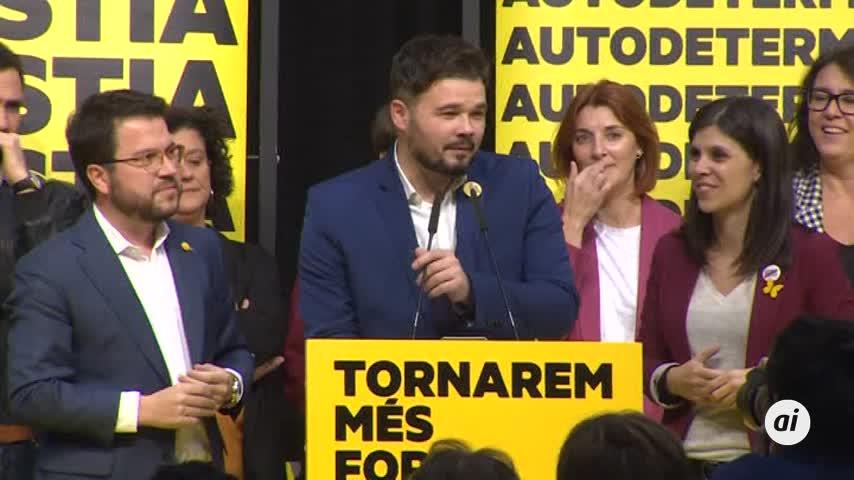 """ERC reivindica que """"Cataluña ha sentenciado"""" tras la sentencia del TS"""