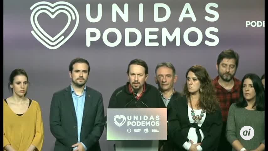Iglesias tiende la mano a Sánchez para un Gobierno de coalición
