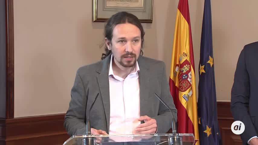 """Pablo Iglesias dice que es """"un honor"""" estar en el Gobierno"""