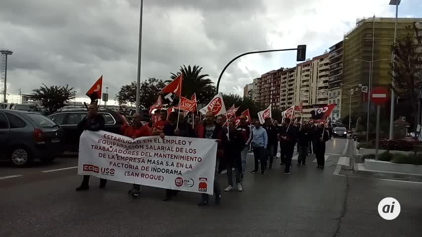Los trabajadores de Masa trasladan sus movilizaciones a Algeciras