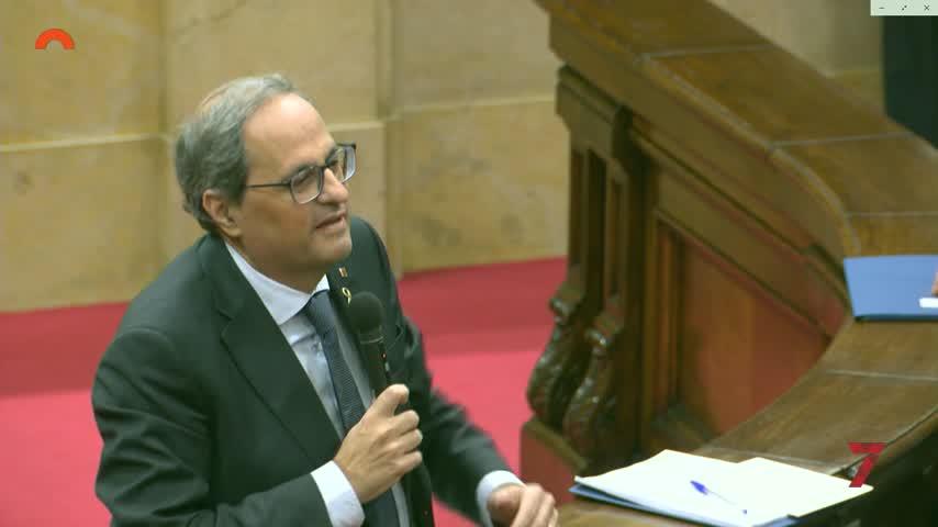 Torra exige a Sánchez una mesa de diálogo sobre el fascismo en España