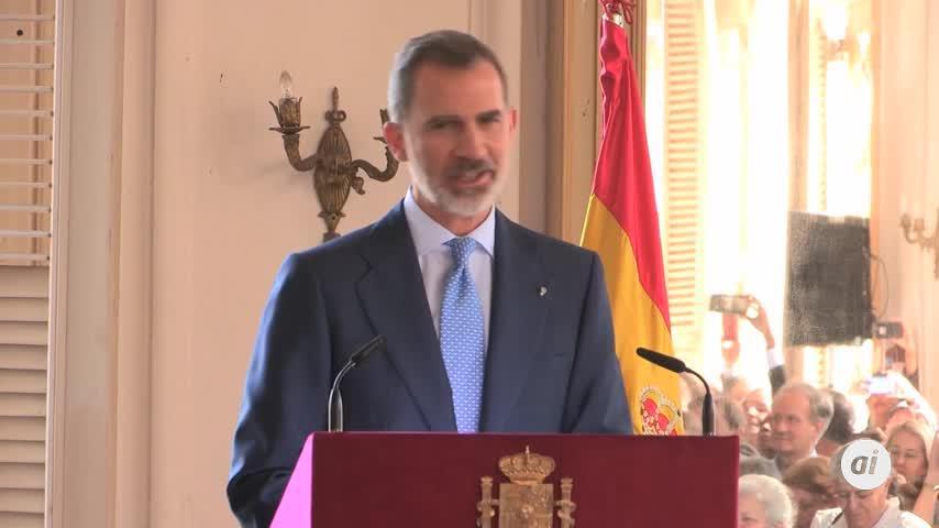 Felipe VI defiende ante Díaz-Canel derechos humanos y democracia