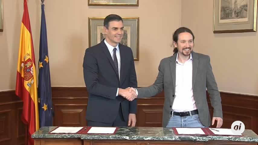 Sánchez pide a la militancia que apoye el acuerdo con Podemos
