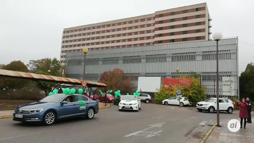 """El personal de los hospitales sevillanos se planta por los """"recortes"""""""