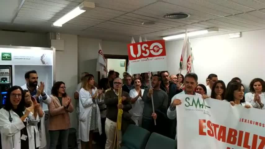 Seguimiento del 75% en la huelga en sanidad de la Costa del Sol