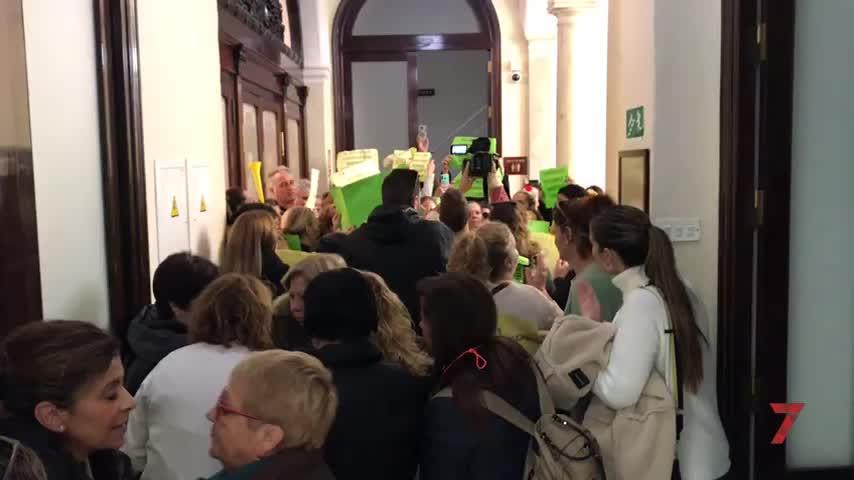 Las protestas de las trabajadoras de Expertus se intensifican