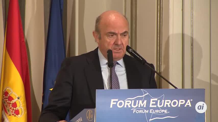 Guindos anticipa un rebote de la economía de la eurozona