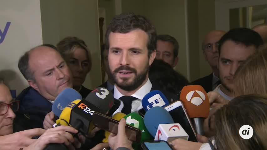 Casado alerta contra reivindicaciones que Junqueras plantea a Sánchez