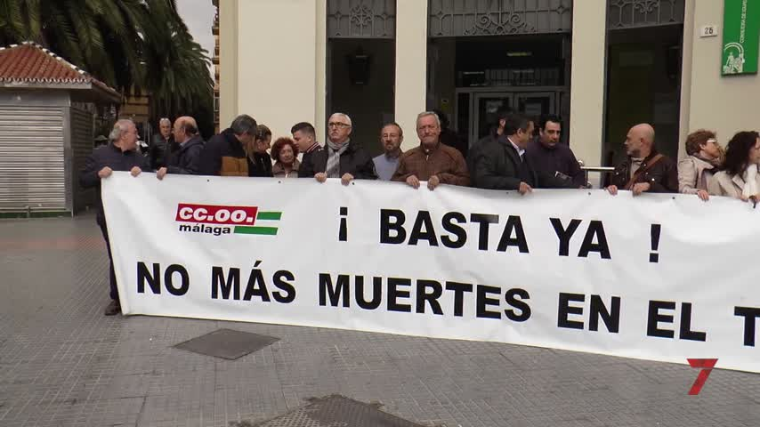 CCOO y UGT se concentran por último accidente laboral mortal