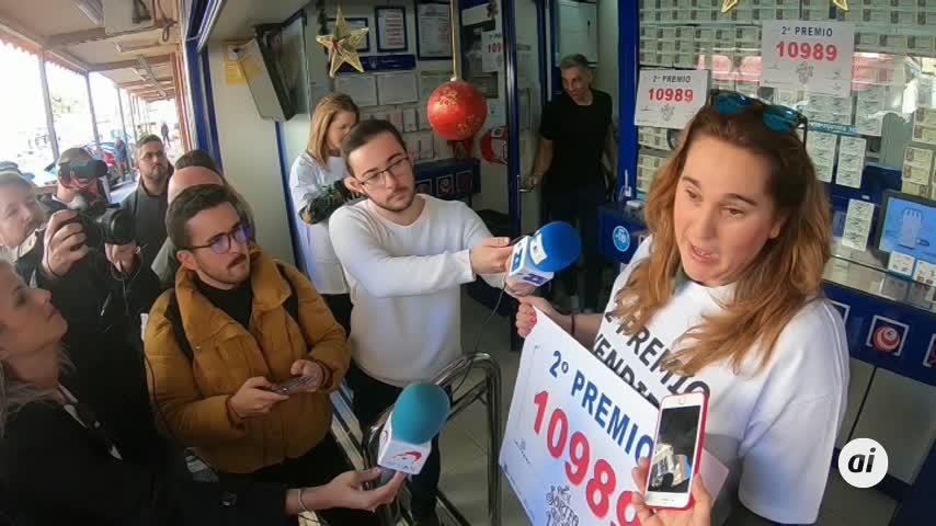El 10.989 obtiene el segundo premio de la Lotería de Navidad