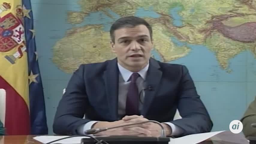 """Sánchez a las tropas en el exterior: """"Os queremos sanos y salvos"""""""