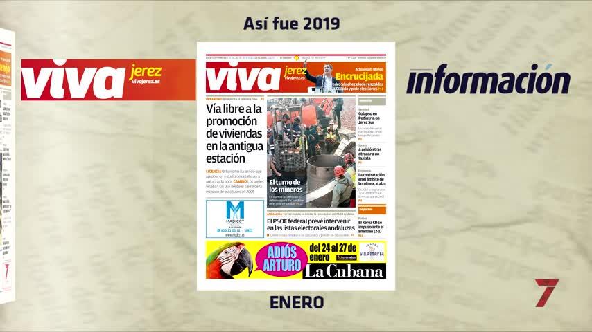2019 a través de las portadas de Viva Jerez e Información