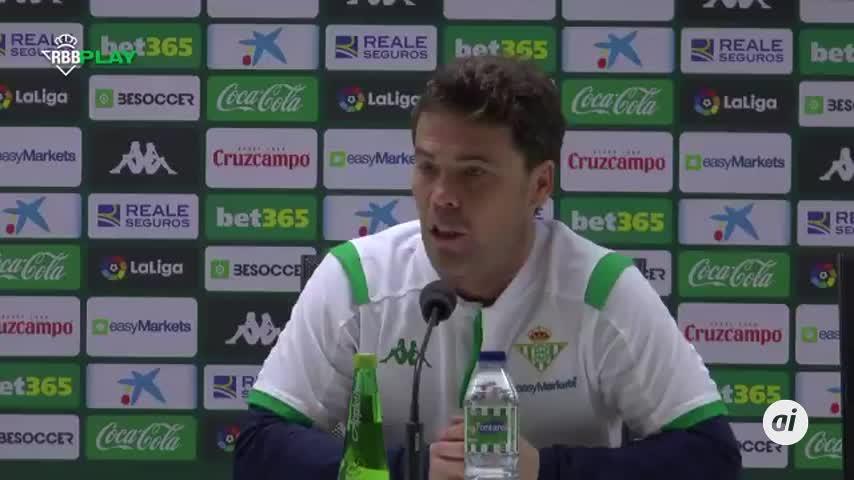 """Rubi admite que """"rivales como el Alavés"""" se le """"atragantan"""" al Betis"""
