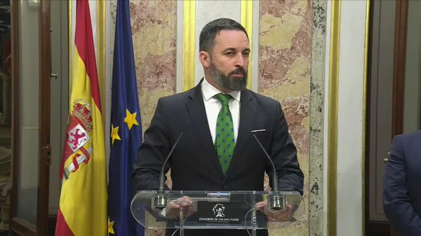 Abascal: El golpe del 1-O se recrudece por la traición del PSOE
