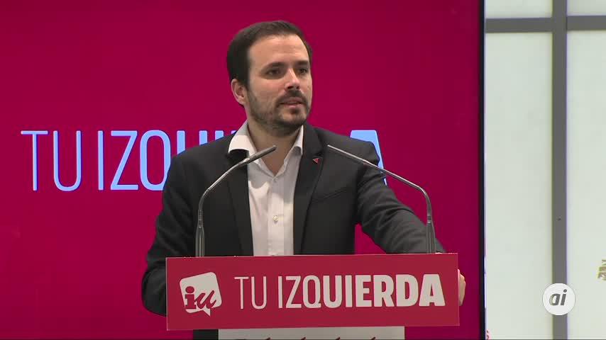 """Garzón: """"La derecha intentará descarrilar el nuevo Gobierno"""""""