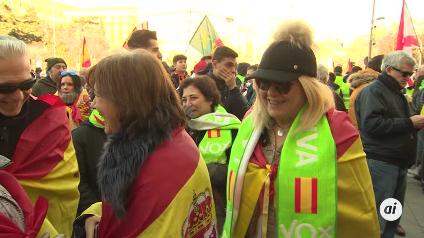 Vox congrega a miles de personas en Andalucía contra el Gobierno